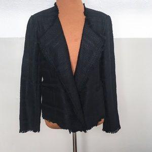 NWT Loft open front tweed blazer